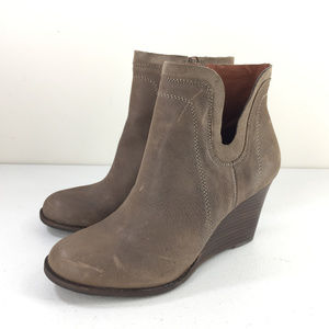 New Lucky Brand Taupe 8.5 Yenata Brown Ankle Boots